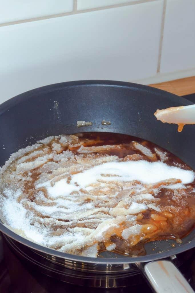 Caramel process