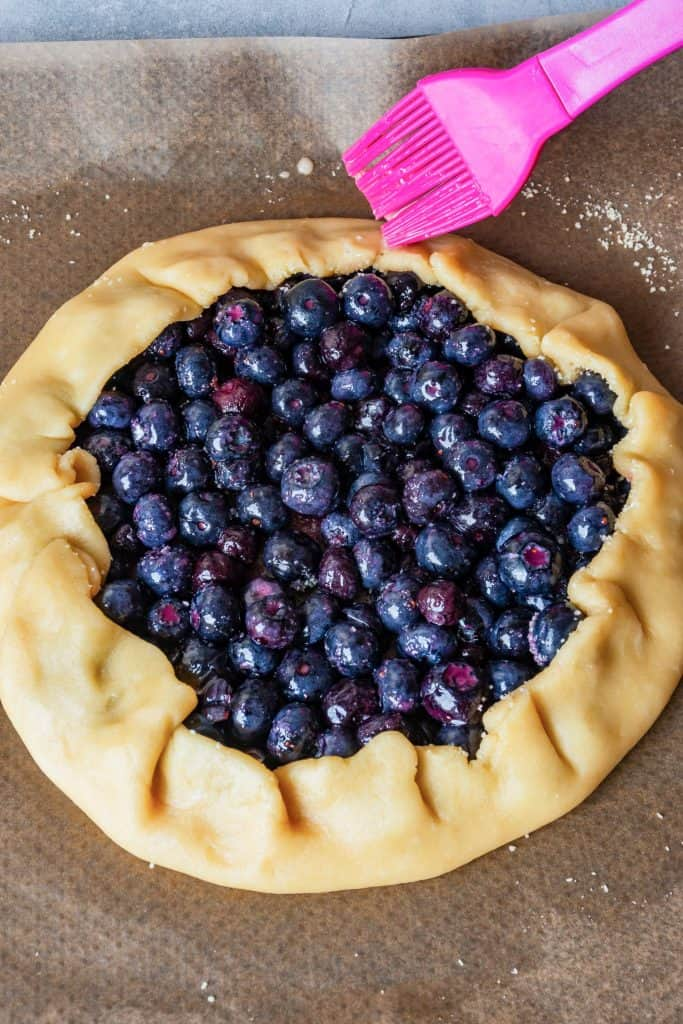 Blueberry Galette process