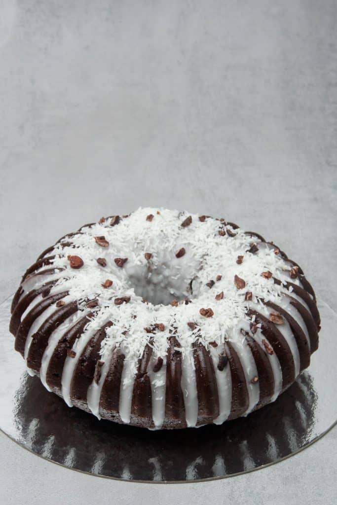 Coconut chocolate bundt cake