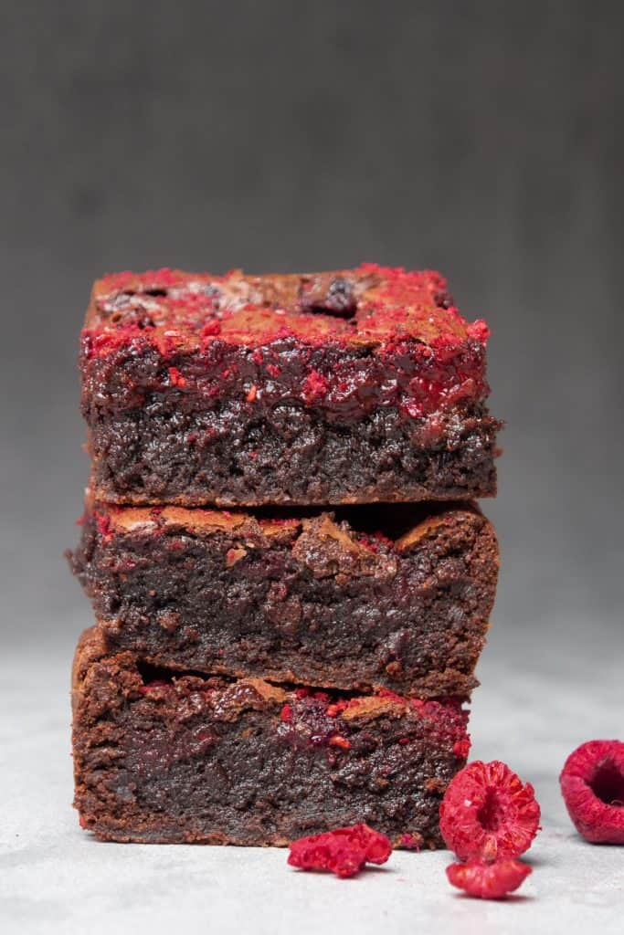 Gooey Raspberry brownie
