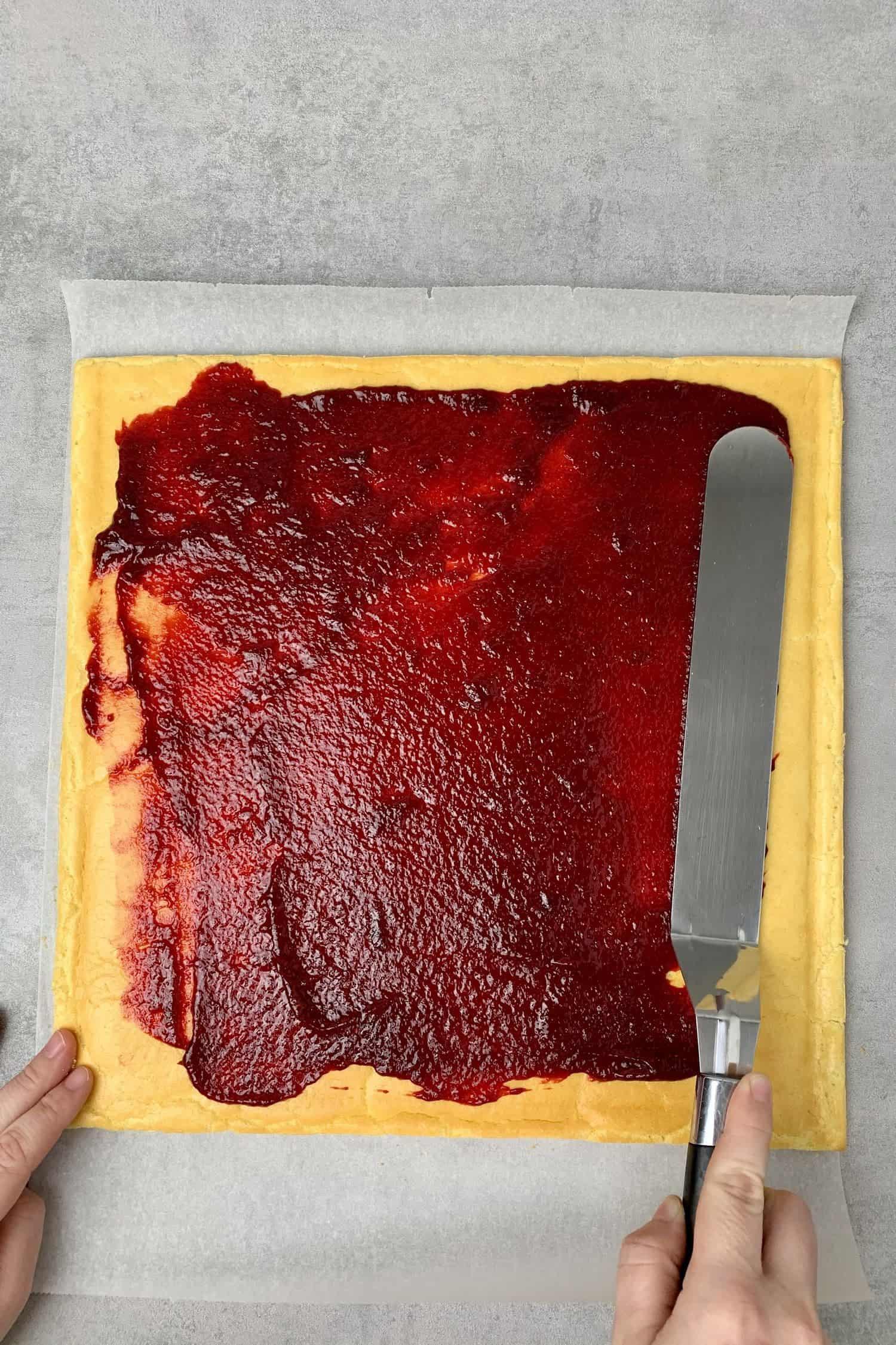 Pistachio Raspberry Yule log