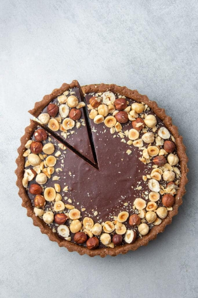 No bake Chocolate Hazelnut Tart