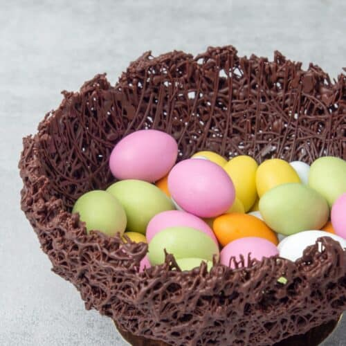Chocolate nest for Easter