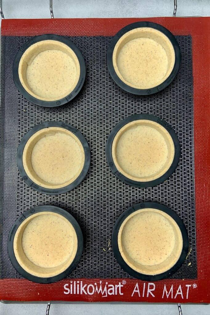 Triple Hazelnut Tart with Gold Chocolate decoration