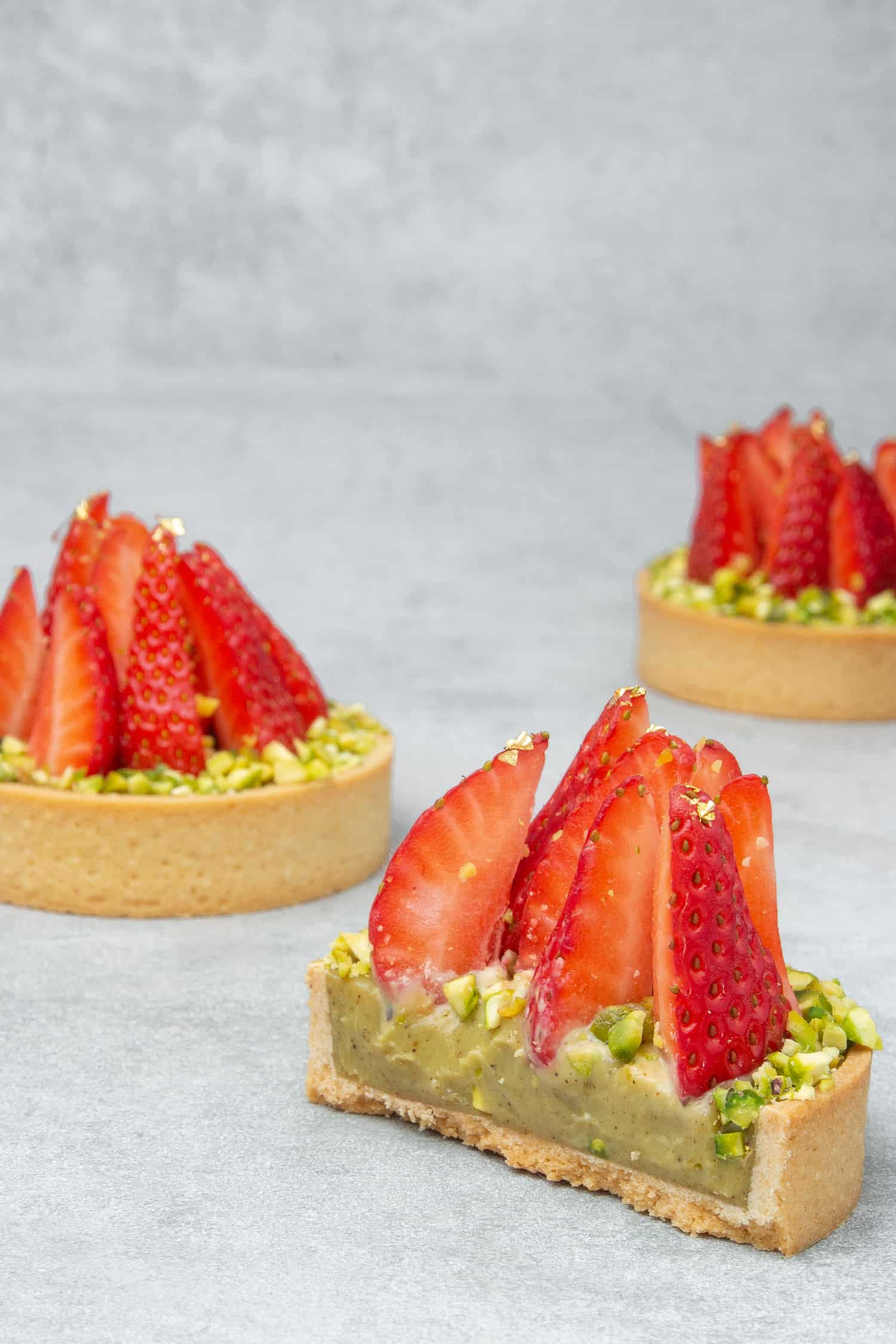 Strawberry Pistachio tart