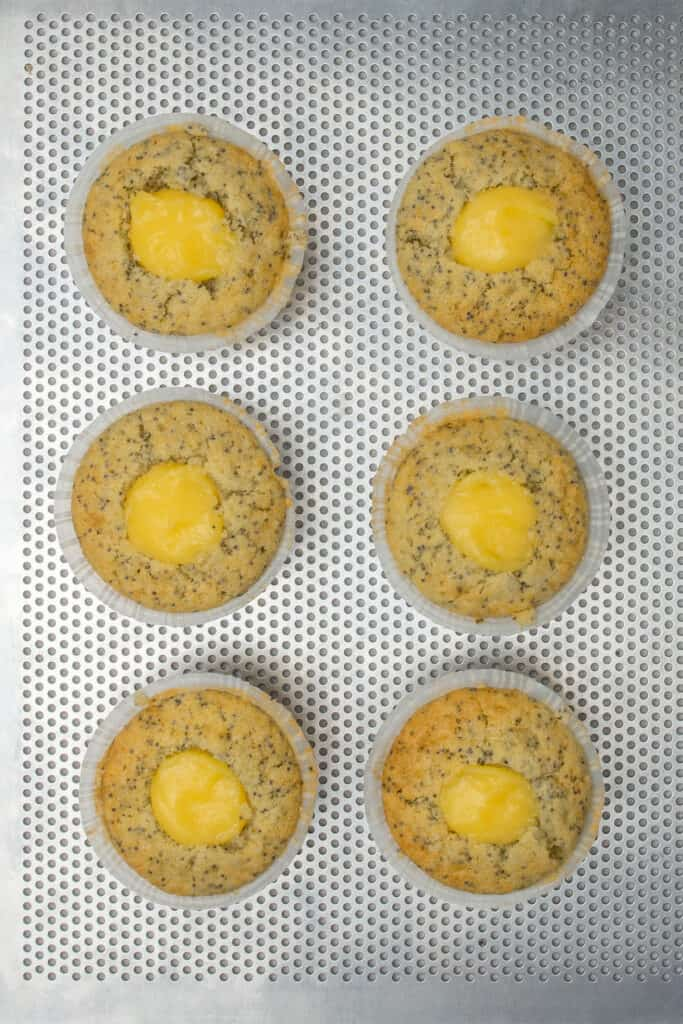 Lemon poppyseed cupcake