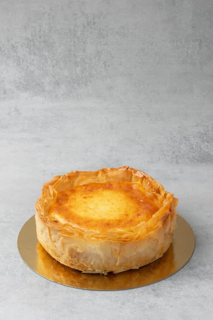 Baklava Cheesecake process