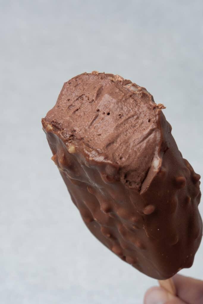 Chocolate ice cream bar