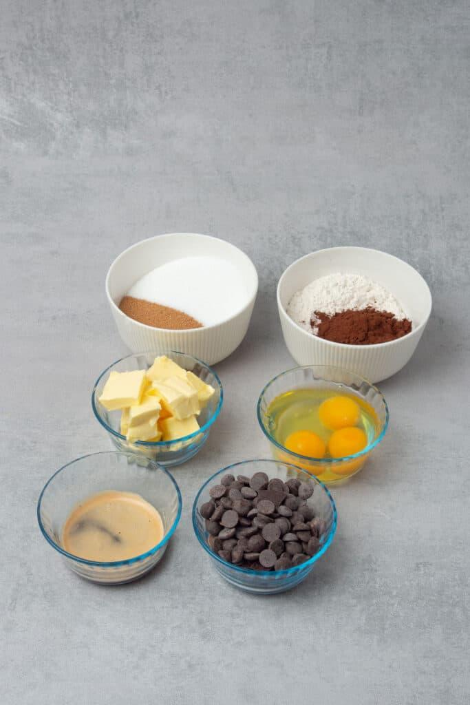 Coffee brownie ingredients