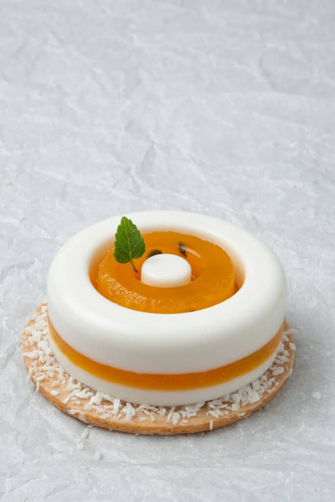 Passion fruit panna cotta