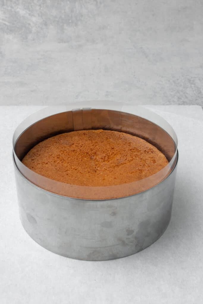Rhubarb cake process