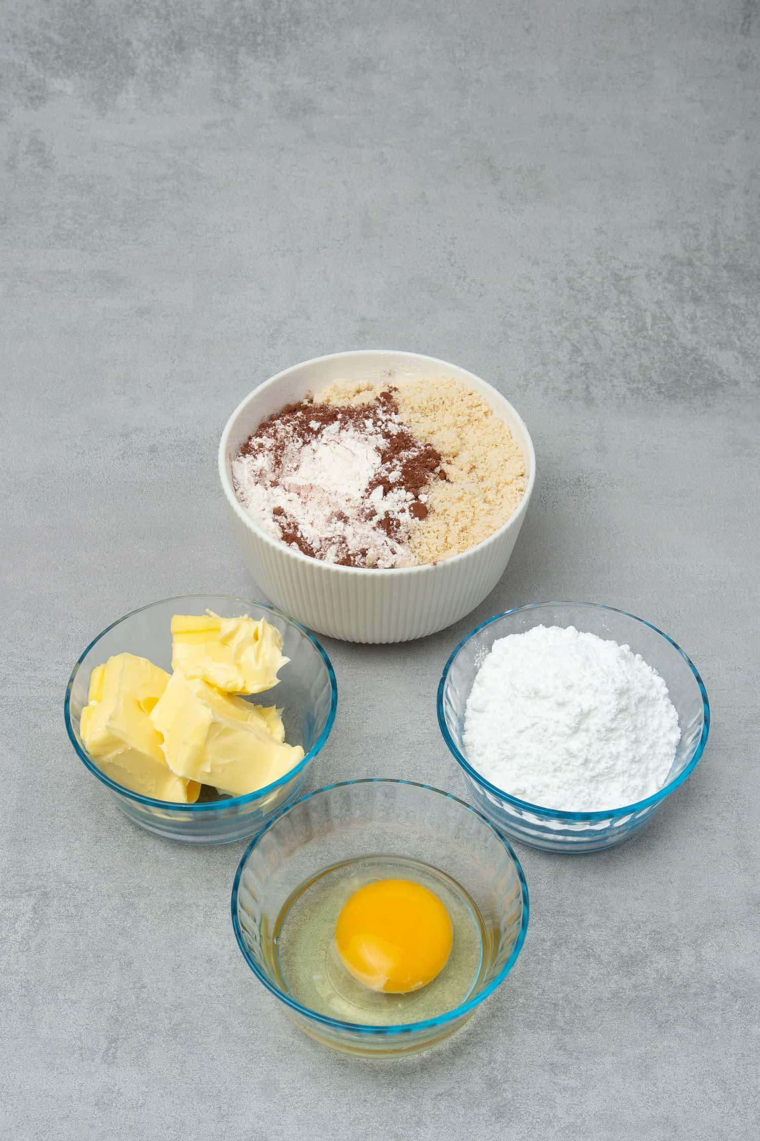 Chocolate Pâte Sablée ingredients