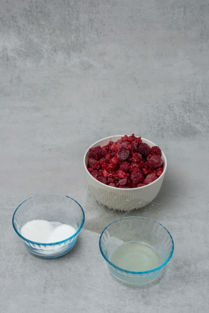 No bake raspberry cheese cake ingredients