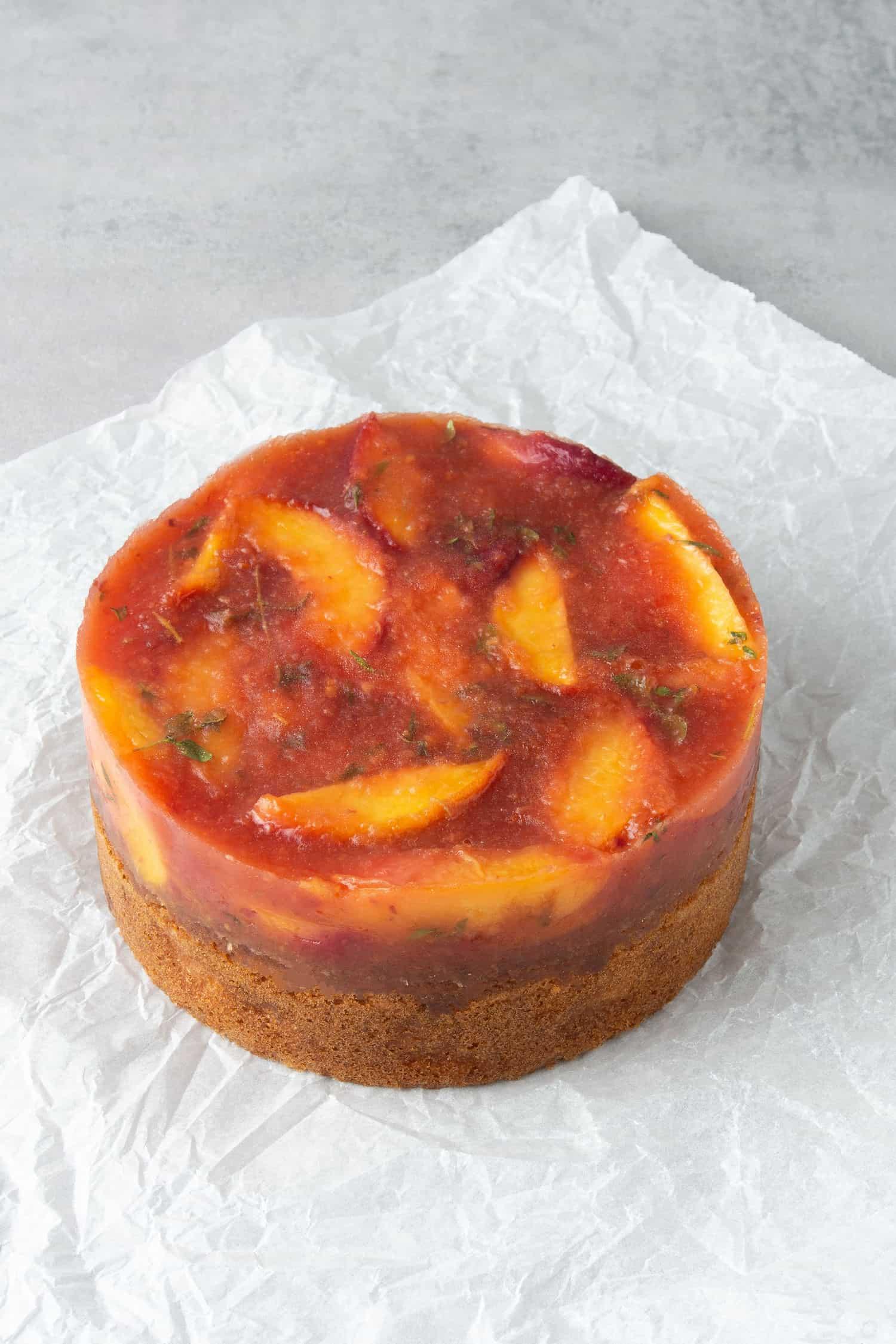 Peach cake process