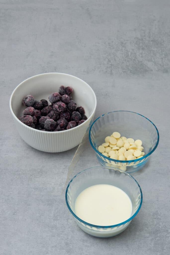 Lemon blueberry tart ingredients