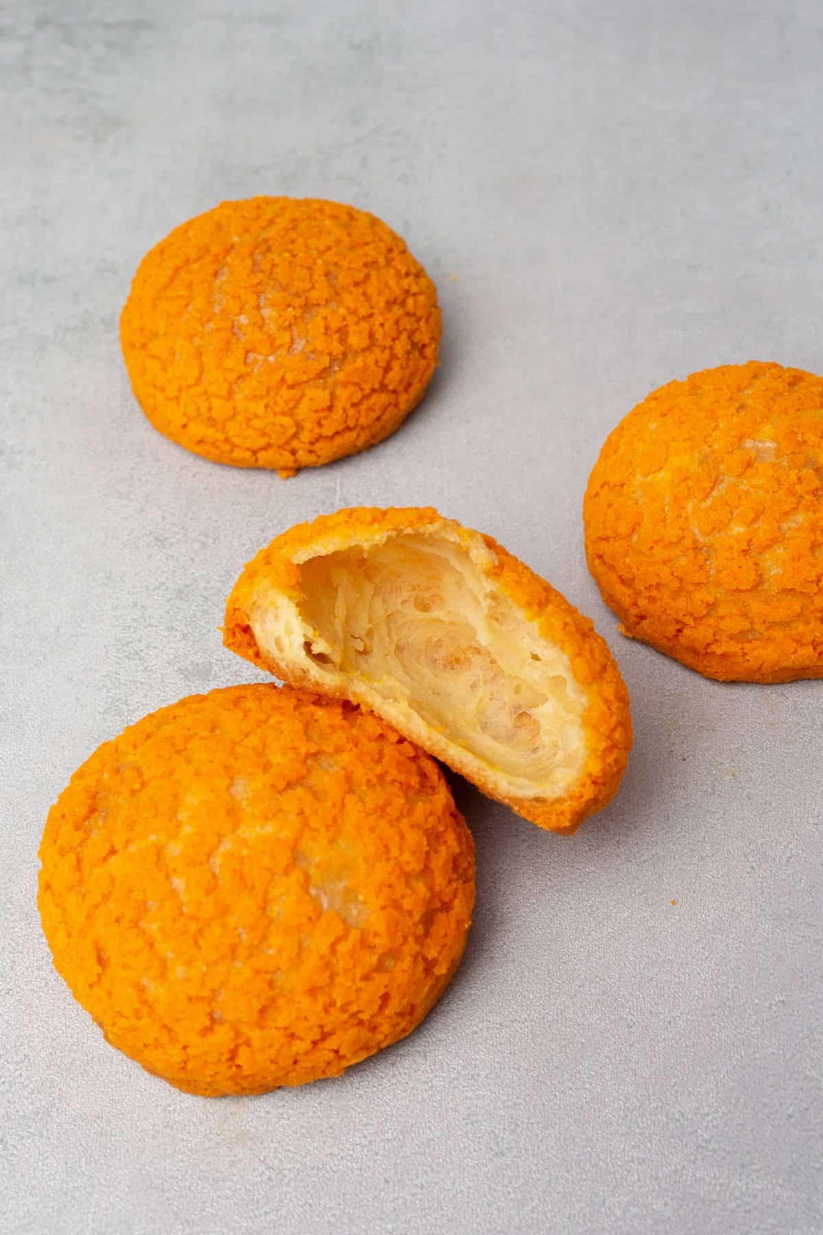 Pumpkin Choux au craquelin